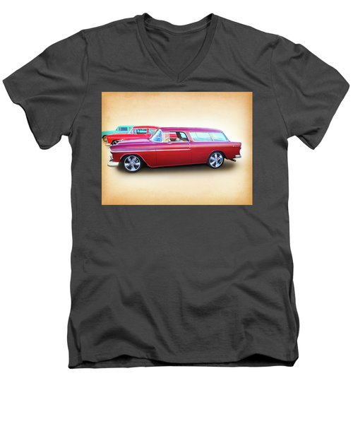 3 - 1955 Chevy's Men's V-Neck T-Shirt