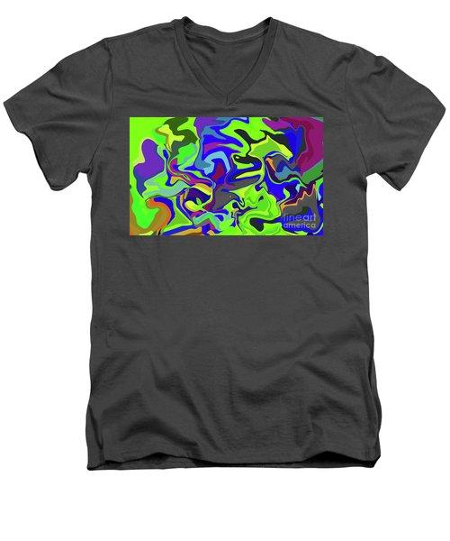 3-8-2009dabcdefgh Men's V-Neck T-Shirt