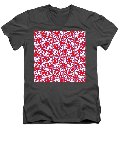 Crazy Psychedelic Art In Chaotic Visual Color And Shapes - Efg22 Men's V-Neck T-Shirt