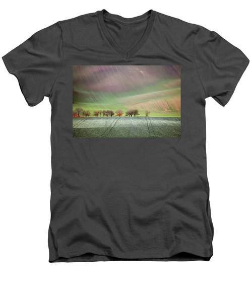 Autumn In South Moravia 3 Men's V-Neck T-Shirt