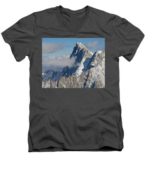 Mont Blanc Du Tacul Men's V-Neck T-Shirt