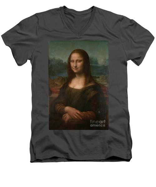 Mona Lisa Men's V-Neck T-Shirt