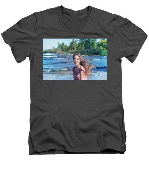 3BE Men's V-Neck T-Shirt