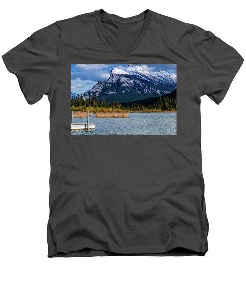 Vermillion Lakes, Banff National Park, Alberta, Canada Men's V-Neck T-Shirt