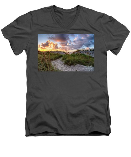 48th Ave. Sunrise North Myrtle Beach Men's V-Neck T-Shirt
