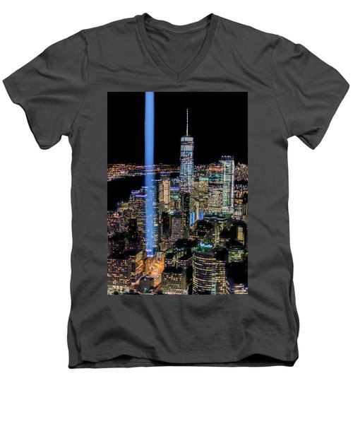 911 Lights Men's V-Neck T-Shirt