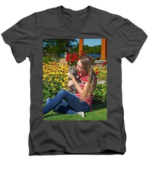 9A Men's V-Neck T-Shirt