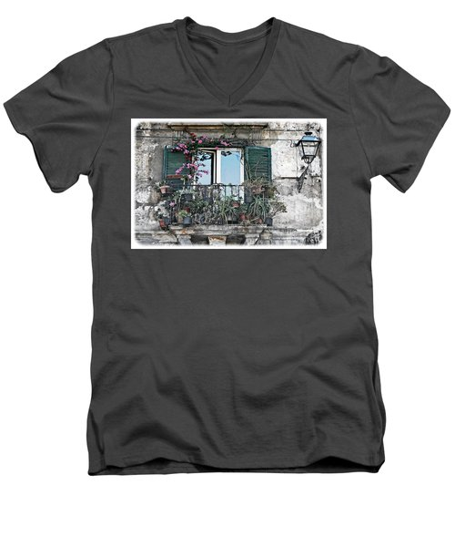 A Balcony In Palermo Men's V-Neck T-Shirt