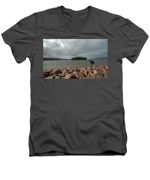 A Charming Little Girl In The Isle Of Skye 1 Men's V-Neck T-Shirt
