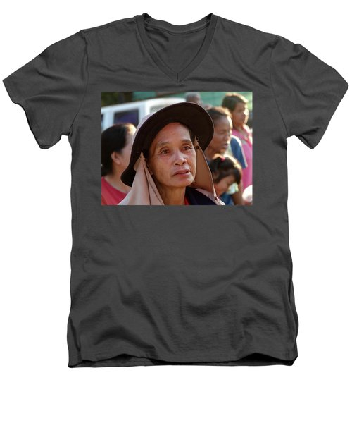 A Face Of Life Men's V-Neck T-Shirt