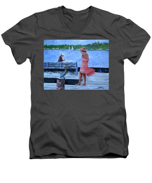 A Little Breeze Men's V-Neck T-Shirt