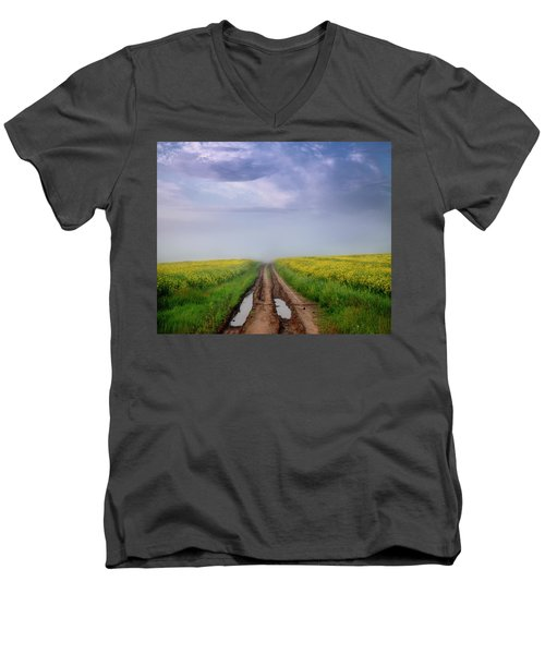 A Muddy Trail Men's V-Neck T-Shirt