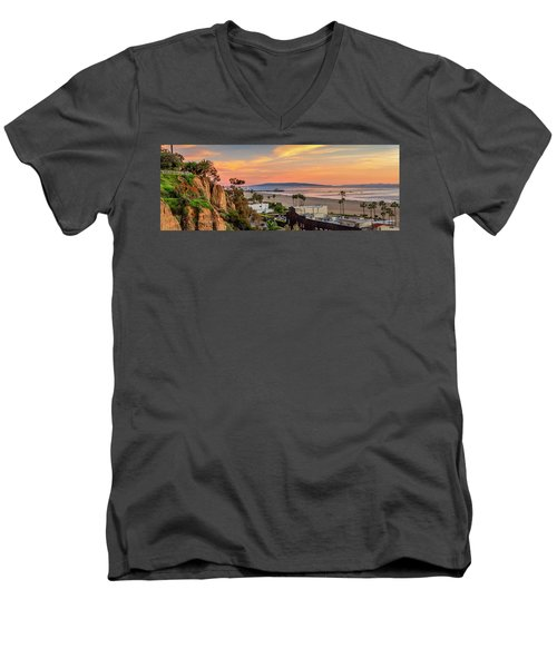 A Nice Evening In The Park - Panorama Men's V-Neck T-Shirt