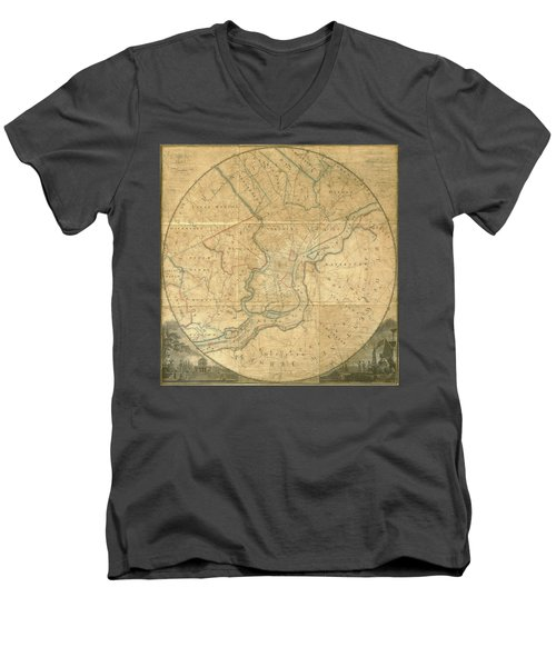 A Plan Of The City Of Philadelphia And Environs, 1808-1811 Men's V-Neck T-Shirt