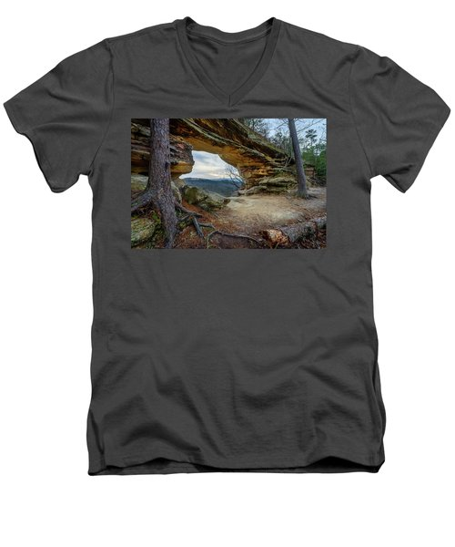A Portal Through Time Men's V-Neck T-Shirt
