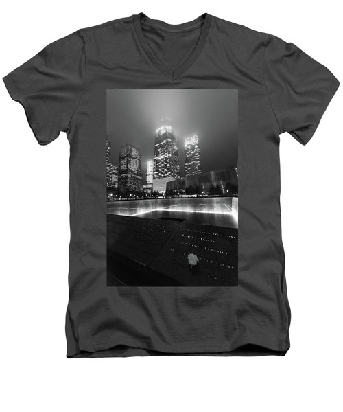 A Rose In The Darkness Men's V-Neck T-Shirt