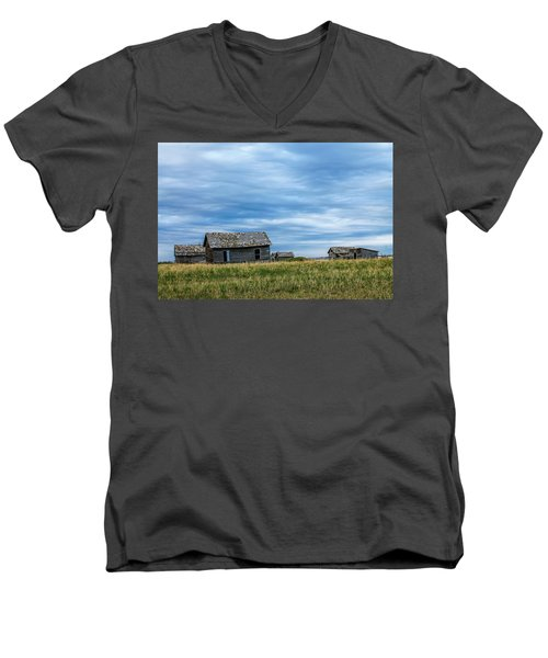A Sign Of The Times, Run Diown Farm Out Buildings And Barns, Alb Men's V-Neck T-Shirt