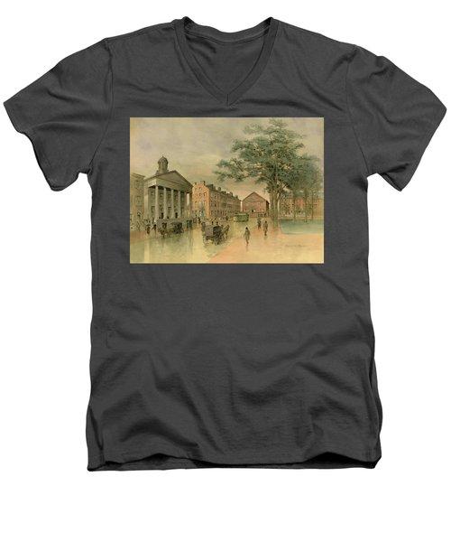 A Southwestern View Of Washington Square Men's V-Neck T-Shirt