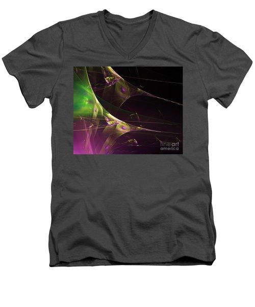 A Space Aurora Men's V-Neck T-Shirt