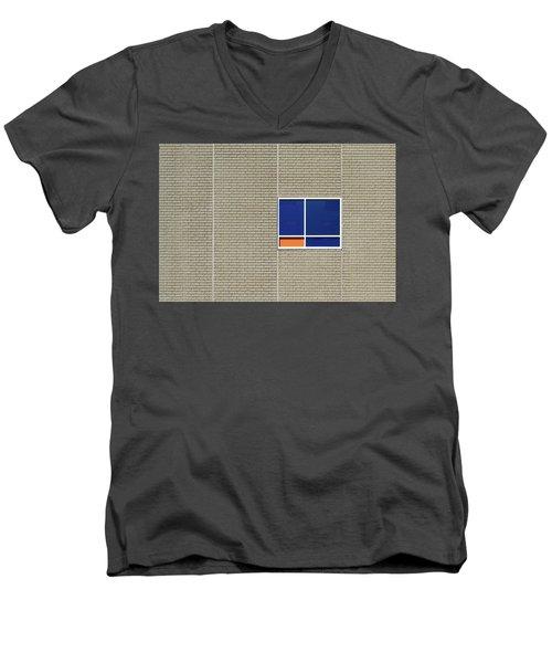 A Splash Of Orange Men's V-Neck T-Shirt