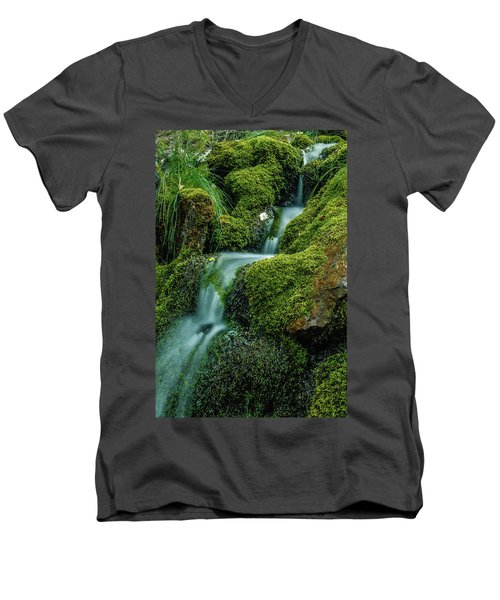 A View From The Side Of The Bow Valley Parkway, Banff National P Men's V-Neck T-Shirt