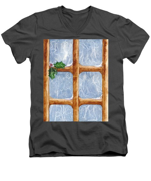 A Visit From Jack Frost Men's V-Neck T-Shirt