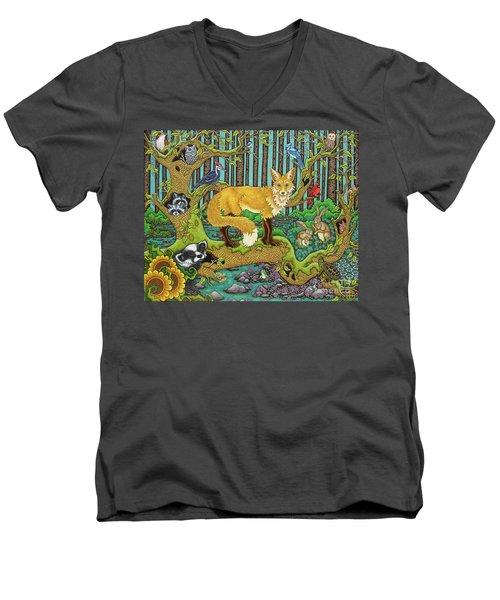 A Vixen In The Forest Men's V-Neck T-Shirt