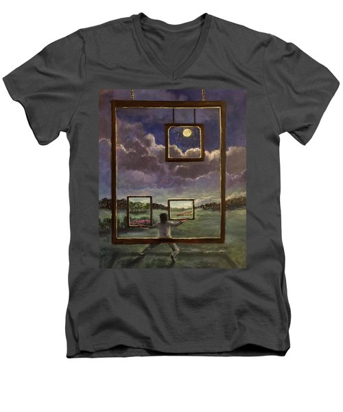 A World Of Visions Men's V-Neck T-Shirt