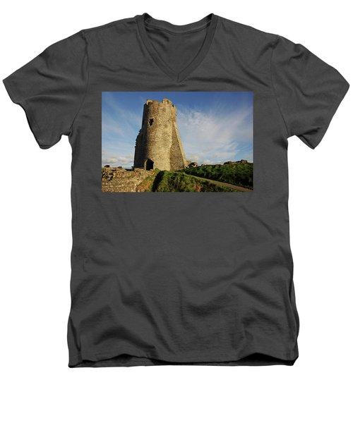 Aberystwyth. The Castle Gatehouse. Men's V-Neck T-Shirt