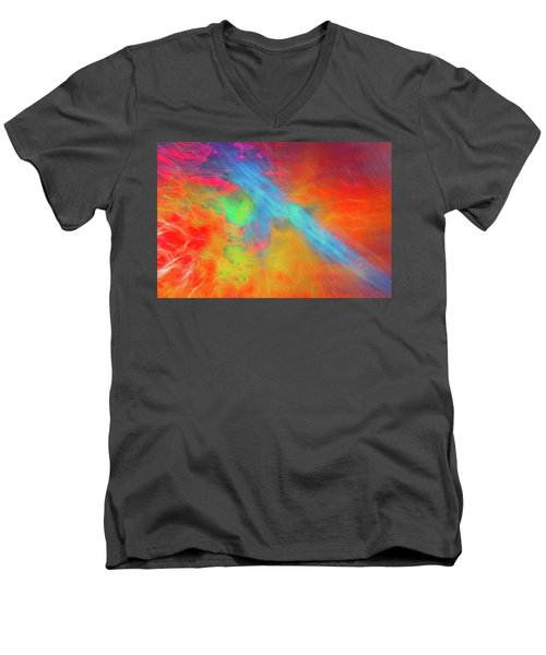 Abstract 51 Men's V-Neck T-Shirt