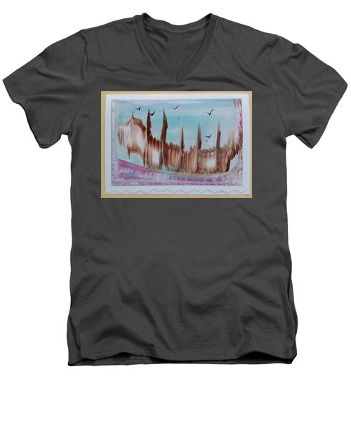 Abstract Castles Men's V-Neck T-Shirt
