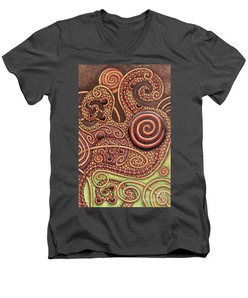 Abstract Spiral 11 Men's V-Neck T-Shirt