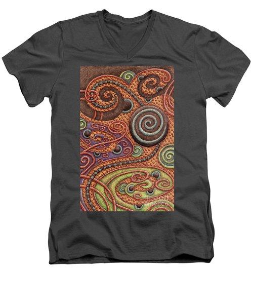 Abstract Spiral 5 Men's V-Neck T-Shirt