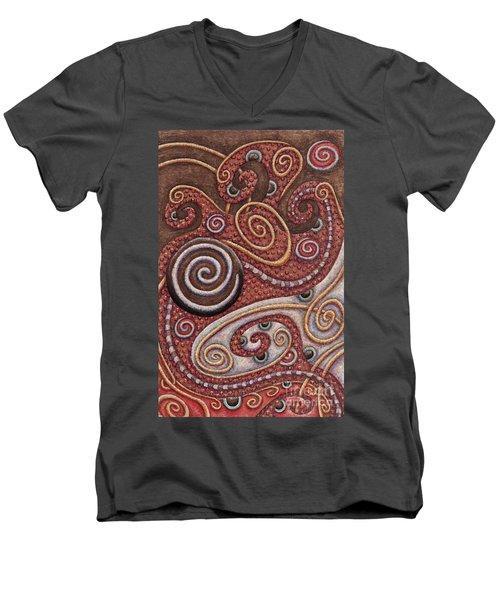 Abstract Spiral 6 Men's V-Neck T-Shirt