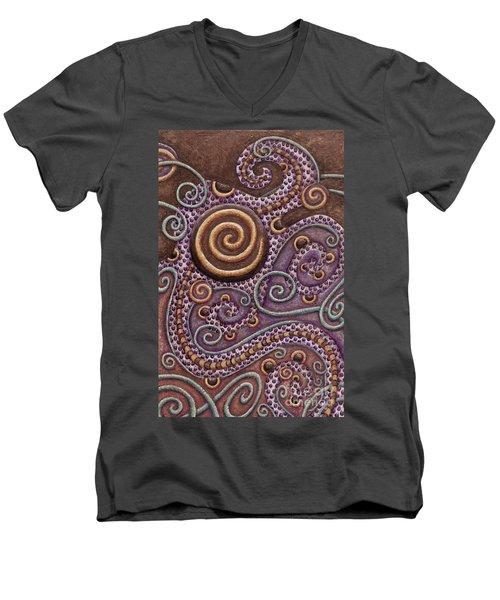 Abstract Spiral 8 Men's V-Neck T-Shirt