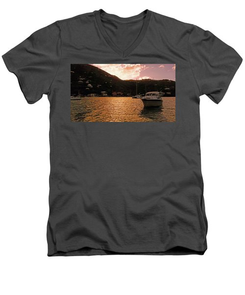 Abstractions Of Coral Bay Men's V-Neck T-Shirt