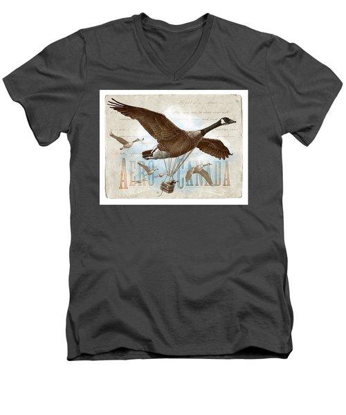 Aero Canada Men's V-Neck T-Shirt