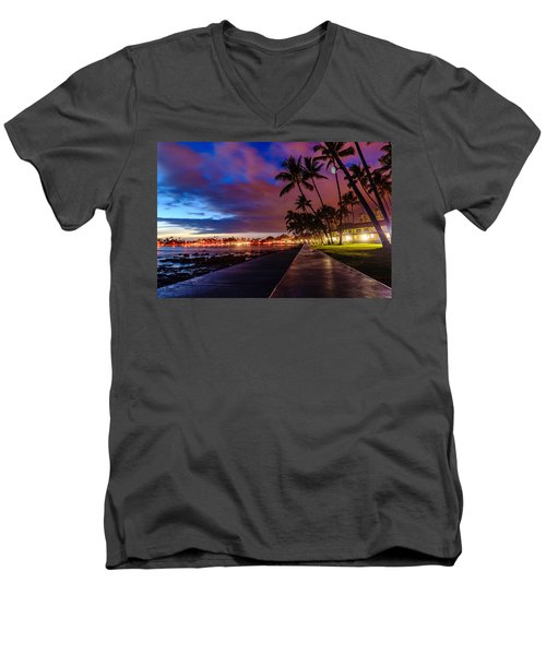 After Sunset At Kona Inn Men's V-Neck T-Shirt