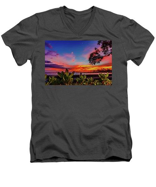 After Sunset Colors Men's V-Neck T-Shirt
