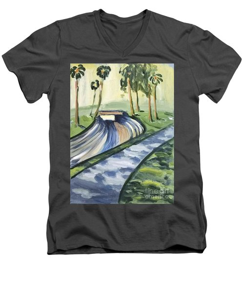 Afternoon In The Park Men's V-Neck T-Shirt