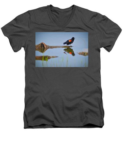 Agelaius Phoeniceus Men's V-Neck T-Shirt