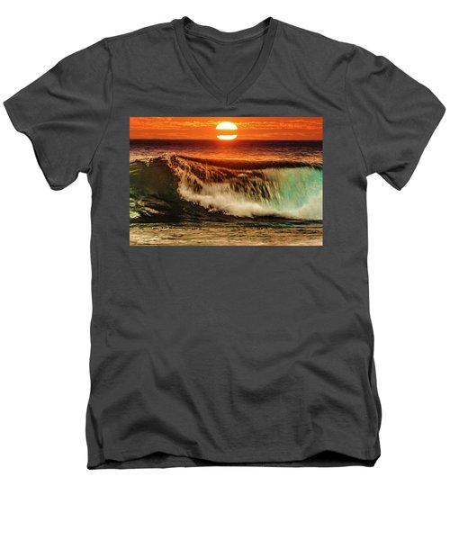 Ahh.. The Sunset Wave Men's V-Neck T-Shirt
