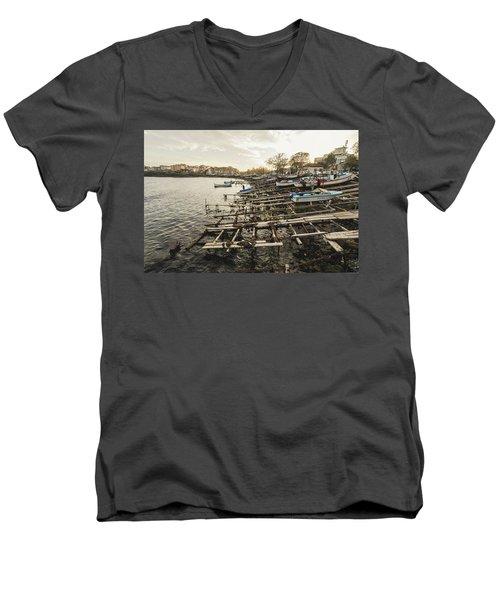 Ahtopol Fishing Town Men's V-Neck T-Shirt