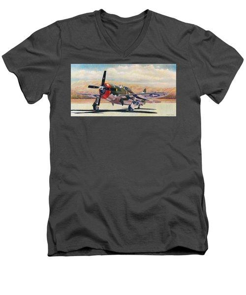 Airshow Thunderbolt Men's V-Neck T-Shirt