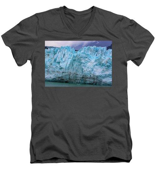 Alaskan Blue Glacier Ice Men's V-Neck T-Shirt