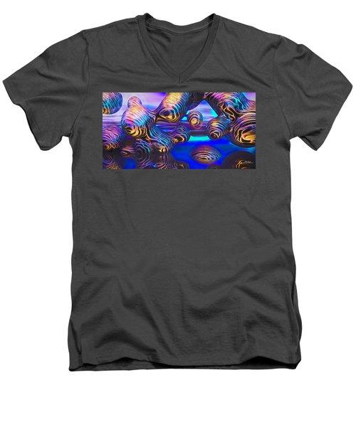 Alien Biometal Blue Men's V-Neck T-Shirt