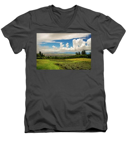 Alii Kula Lavender Farm Men's V-Neck T-Shirt