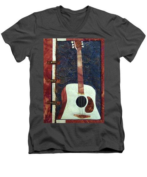 All That Jazz Guitar Men's V-Neck T-Shirt