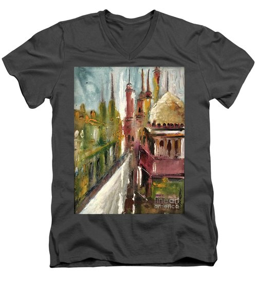 Mosque  Men's V-Neck T-Shirt