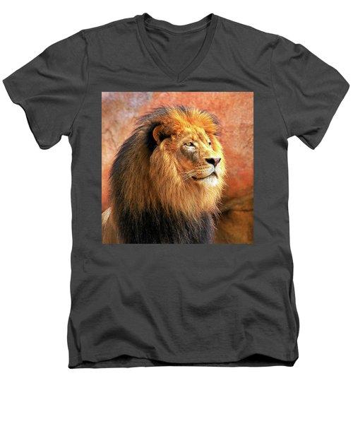 Alpha Male Lion Men's V-Neck T-Shirt